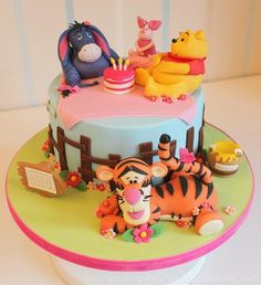Winnie the Pooh and Friends Cake - Cake by Strawberry Lane Cake Company