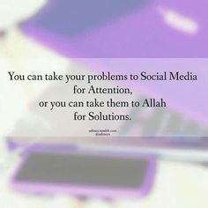 It's better to post your problem, stress, sadness on a prayer mat than on social media.Only Allah ﷻ has the best solution for your problem. Islamic Images, Islamic Qoutes, Islamic Inspirational Quotes, Muslim Quotes, Prophet Quotes, Quran Quotes, Reminder Quotes, Self Reminder, Alhamdulillah