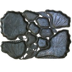 Japanese Carved Lotus Tray  www.darrelldeanantiques.com