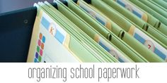 IHeart Organizing: Back To School Organization. Great tips on putting together yearly memory book.