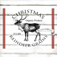 Vintage Christmas Reindeer Grain Sack Large by CreatifBelle … Christmas Deer, Christmas Signs, Country Christmas, Christmas Crafts, Christmas Stencils, Vintage Christmas Images, Christmas Wonderland, Winter Wonderland, Christmas Graphics