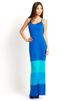 AMOURETTE Colorblock Maxi Dress