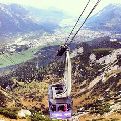 Ride up the Zugspitze at Garmisch, Germany.