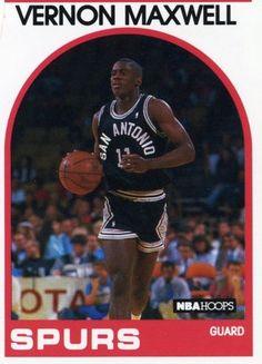ROOKIE 89/90 NBA HOOPS VERNON MAXWELL SAN ANTONIO SPURS MINT