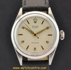 Rolex Steel Honey Comb Dial Oyster Precision 6444  http://www.watchcentre.com/product/rolex-steel-honey-comb-dial-oyster-precision-6444/1918