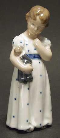 Royal Copenhagen FIGURINE Girl With Doll (No Box) 75690   eBay  US $147.95