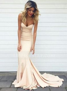 Simple Mermaid Sweetheart Sweep Train Pearl Pink Prom Dress sold by dressthat. Shop more products from dressthat on Storenvy, the home of independent small businesses all over the world.
