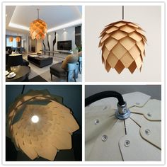 Wholesale new modern novelty creative pine cone pendant light lamp wood lampshade pendant lighting lamp for home living room-in Pendant Lights from Lights & Lighting on Aliexpress.com | Alibaba Group