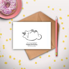 Funny Cat Birthday Card Printable Instant Download Digital From