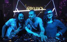 Afrojack, Steve Aoki and Skrillex last Labor Day Weekend at XS Las Vegas!