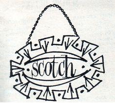 Vintage Calvert Scotch label