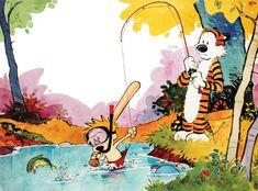 Calvin and Hobbes, Gone Fishing - Happy Monday everyone! DA