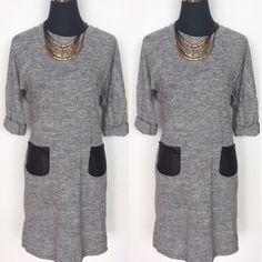 Nuevo vestido jaspeado con detalle de bolsillos en cuero Todas nuestras novedades aquí http://primoronline.pswebshop.com/es/