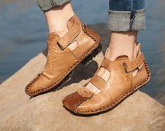 Zapatos hechos a mano del verano para las mujeres, zapatos planos, zapatos ocasionales, sandalia, zapatos retro de Oxford, zapatos de cuero del estilo de la vendimia