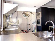 Ein modernes Design-Duplex Penthaus in Es Molinar-Palma, mit 3 Schlafzimmer und riesiger Dachterrasse und Sommerküche zur Langzeitmiete, monatl. € 2.500.-
