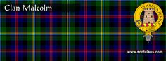 Clan Malcolm Tartan and Crest