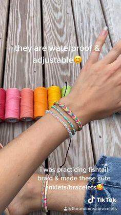 Diy Bracelets With String, Diy Bracelets Easy, Thread Bracelets, Handmade Bracelets, Woven Bracelets, Diy Friendship Bracelets Tutorial, Diy Friendship Bracelets Patterns, Bracelet Tutorial, Macrame Bracelet Diy