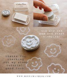 diy hand carved stamp tutorial! | minna may