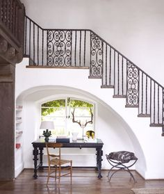 Kristen Buckingham - Interior Designer - Los Angeles - Mediterranean - Rustic - Traditional - Transitional - Family Room - Great Room - Living Room - Staircase - Ornate - White - Neutrals - Fresh - Nook - Cozy - Office