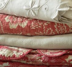 Antique French linen and hemp.