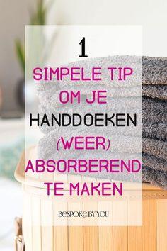 Je handdoeken absorberend maken is een fluitje van een cent met dit simpele trucje. Ook geschikt om gebruikte handdoeken nieuw leven in te blazen!