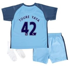 Manchester City Trøje Børn 16-17 #Yaya Toure 42 Hjemmebanesæt Kort ærmer.199,62KR.shirtshopservice@gmail.com
