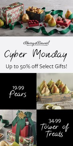 20 Black Friday And Cyber Monday Ideas Harry David Cyber Monday Specials Delicious Food Gifts
