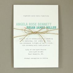 Angela Suite - Simple Wedding Invitation - Modern & Chic Invitation - Customizable Wedding Invitation - Sample