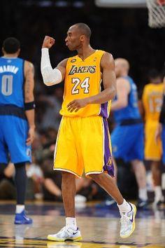 Kobe celebrates (April 2, 2013 | Dallas Mavericks @ Los Angeles Lakers | Staples Center in Los Angeles, California)