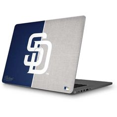 San Diego Padres Split MacBook Skins. Shop now at www.skinit.com #MLB #SanDiego #Padres #baseball #macbook #laptop #laptopskin #macbookskin