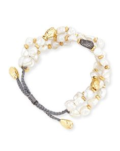 Baroque Pearl Cord Bracelet by Tai at Neiman Marcus.