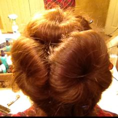 3 Sock buns for long hair and more curls!