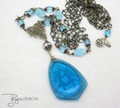 Vintage Assemblage Czech Pendant Necklace - Jryen Designs - Julie Ryen
