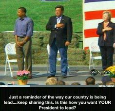 if your allegiance is not to this flag....why are you serving as President?
