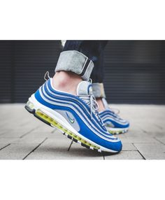 99761556a8 Men's Nike Air Max 97 Atlantic Blue Voltage Yellow 921826 401,Fashion  sneakers, buy