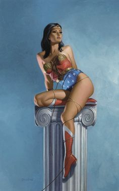 Release your inner superhero! Wonder Woman painting by Zeleznik @fitcandy FB or #fitcandy.tv