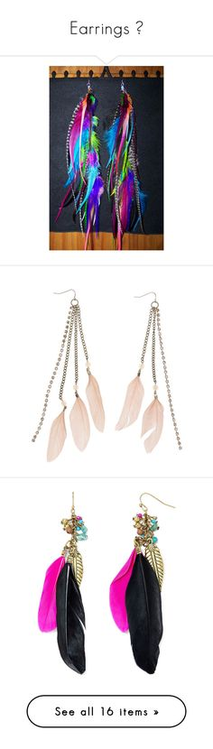 """""""Earrings 👂"""" by always4eversunset ❤ liked on Polyvore featuring jewelry, earrings, multi color earrings, hippie earrings, boho jewellery, colorful earrings, bohemian style earrings, accessories, accessories and jewelry and blush"""