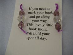Book mark by mysisterstuff on Etsy, $2.00
