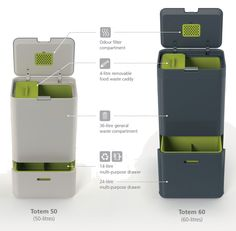 Totem Kitchen Bin | Intelligent Waste™ by JosephJoseph $250 seems steep though!!