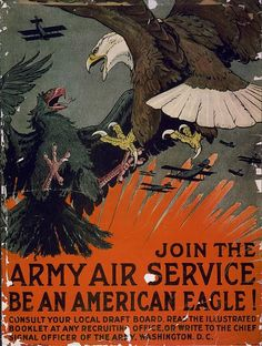 Great War American recruiting poster.