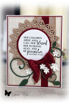 Card by YoursTruly using Verve Stamps.  #vervestamps