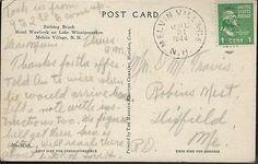 1944 Bathing Beach Hotel Wawbeek Lake Winnipesaukee Melvin Village NH  Postcard 2