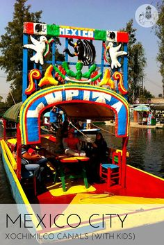 Exploring the canals of Xochimilco in Mexico city, Mexico (with kids)