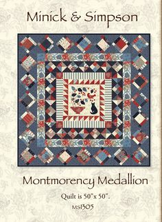 Montmorency Medallion Quilt Pattern by Minick by MinickandSimpson, $9.00