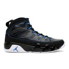 NIKE AIR JORDAN IX RETRO BLACK/WHITE-PHOTO BLUE #sneaker