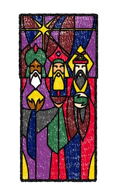 Holiday Cards made as gifts to family and friends Christian Kids Crafts, King Craft, Magi 3, Three Wise Men, Winter Painting, Paper Crafts Origami, Holy Family, Christmas Nativity, Christmas Paintings
