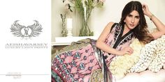 Womens Fashion Pakistani Designer Suits Haute Couture for work / Party and Casual wear- Aeisha Varsey collection. Mauve and Black Latest Summer Pakistani Luxury Lawn Collection. Embroidered Lawn Shirt with Pure Chiffon Dupatta and Lawn Trouser.