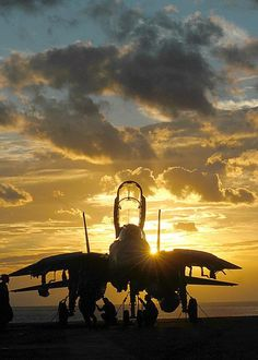 ♂ Aircraft at sunset f-14 tomcat