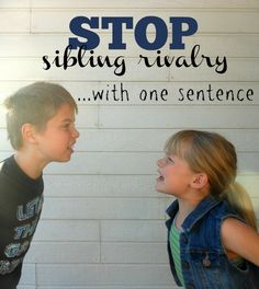 to Stop Sibling Rivalry with One Sentence yep. works every time! works every time! Parenting Styles, Parenting Books, Parenting Teens, Kids And Parenting, Parenting Plan, Parenting Quotes, Sibling Fighting, Bring Up A Child, Sibling Relationships