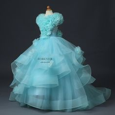 Gorgeous First Communion Dress Little Princess Tutu Tulle Ball Gowns Rosette Ruffles Lace Up Girls Pageant Flower Dresses 2016